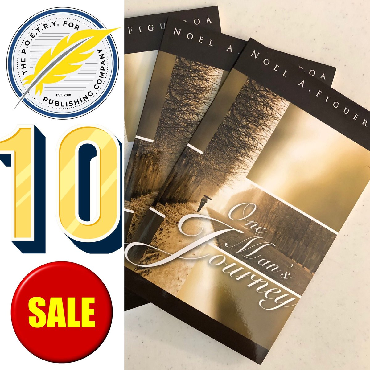 """10th ANNIVERSARY SALE!  From now until November 6th, copies of """"One Man's Journey"""" are on sale for $10. (Includes shipping & handling.) To order, go to:  https://t.co/ODuY4b0bmN  Thank you for your support!  #Announcement #OMJ #AnniversarySale #Poetry #Arts #TheAnointedPen https://t.co/XChr6InyJD"""