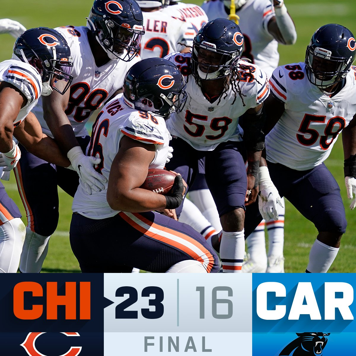 FINAL: The @ChicagoBears are 5-1! #CHIvsCAR #DaBears