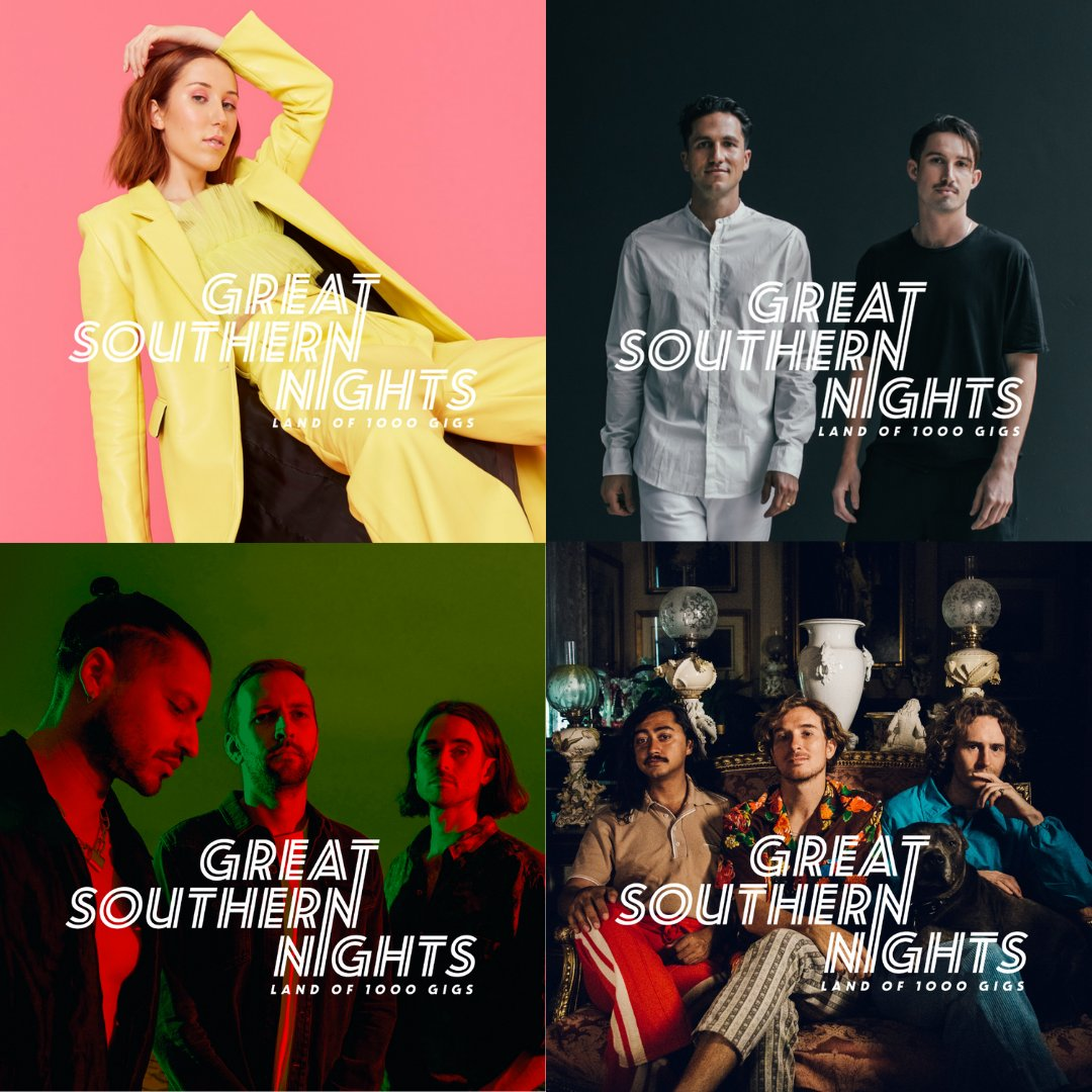 We are pumped to announce a bunch of shows throughout November thanks to the amazing Great Southern Nights program feat. Bag Raiders, KLP, Set Mo, Lazywax, The Nights, Chase Zera, Mickey Kojak and World Champion performing at venues across NSW.   Details: https://t.co/ulo0U6dQxW https://t.co/AbupeGN7RX