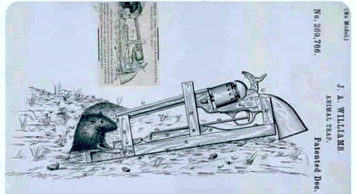 Patente de trampa para cazar ratones registrada en Estados Unidos en 1882. #humor #ratones #curiosidades #datocurioso #FelizDomingoATodos #18Oct https://t.co/5udHgAI983