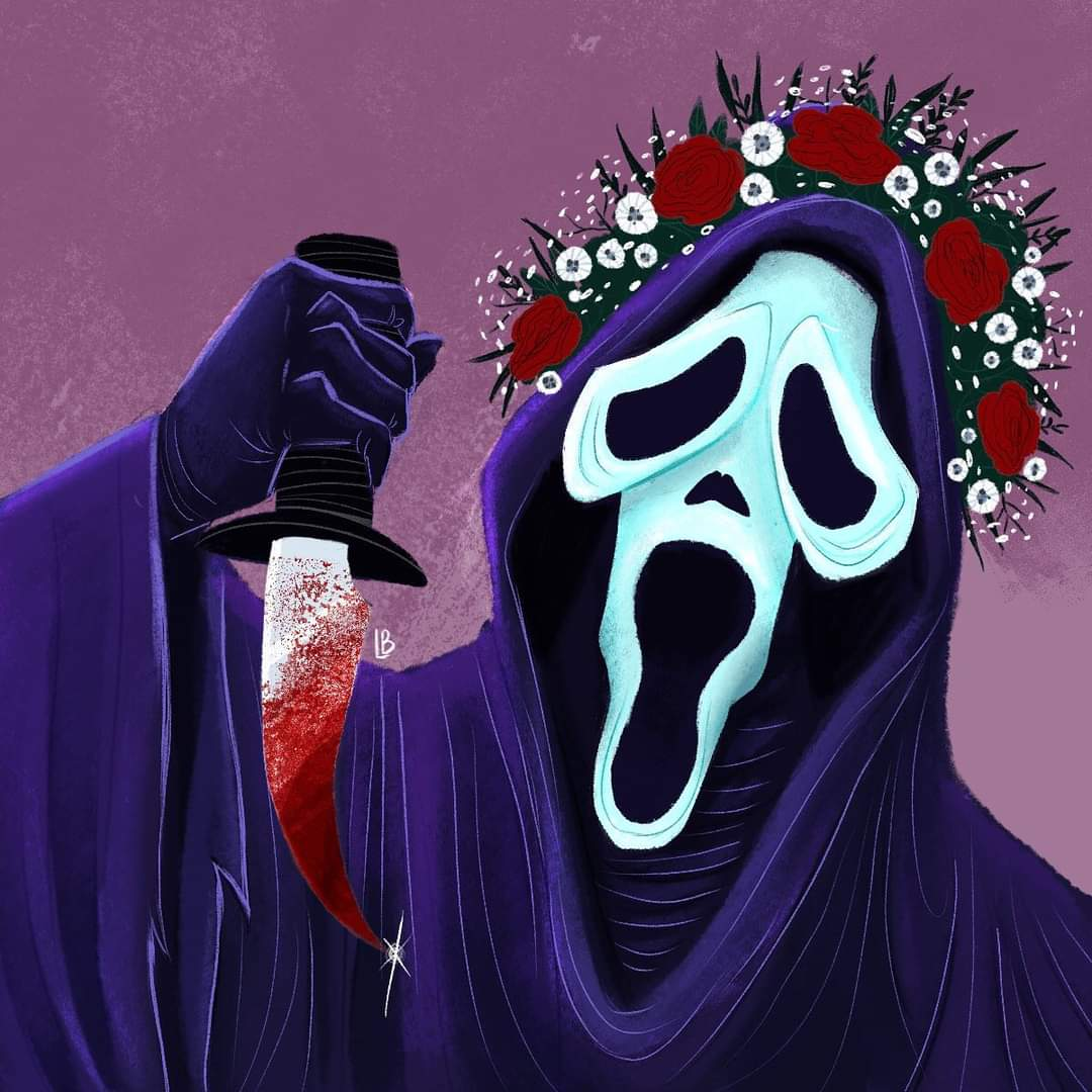 """Credit to the Artist: @TheDarkDoodler   Check out our latest episode with Scott Weitz as we indict """"Scream."""" #podcast #podcasts #movie #movies #film #films #cinema #filmmaking #moviescenes #movienight #movietime #moviereview #horrormovies #horror #halloween #Scream #Ghostface https://t.co/B2wMSSXAKI"""