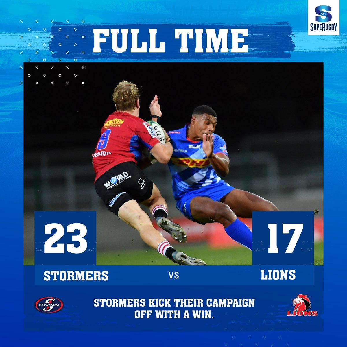 #SuperRugbyUnlocked / #Round2  #Stormers vs #Lions  23-17 #Stormers tuvo un comienzo ganador en su campaña Super Rugby Unlocked, viniendo desde atrás para vencer a los #Lions en Ciudad del Cabo.  #STOvsLIO #EmiratesAirlinesParkStadium #SuperRugby #SuperRugby25Years https://t.co/Y1aDD3Kdru