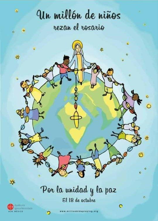 #FelizDomingoATodos  #Octubre2020  recemos el Santo Rosario con nuestros #niños https://t.co/hGFouivkyi