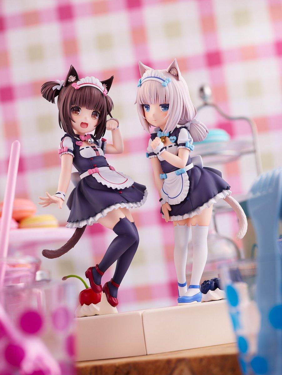 \💕✨ご予約開始✨💕/キュートなネコたちが織りなす美少女アドベンチャーゲーム『ネコぱら』より、1/7スケールフィギュア ショコラ・バニラ~ Pretty kitty Style~の登場です!可愛さをぎゅっと小さなソレイユの制服に詰め込みました♪詳細・ご予約はこちら#NEKOPARA #plum