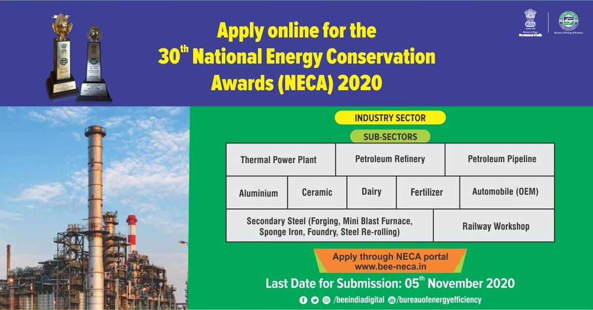 Energy efficiency contributes significantly in the Industry sector to help meet the commitments made under the nationally determined contributions. To encourage and help achieve #energyefficiency, awards in the sector will be given to the below-mentioned industries for.. (1/2) https://t.co/B5mX5kX184