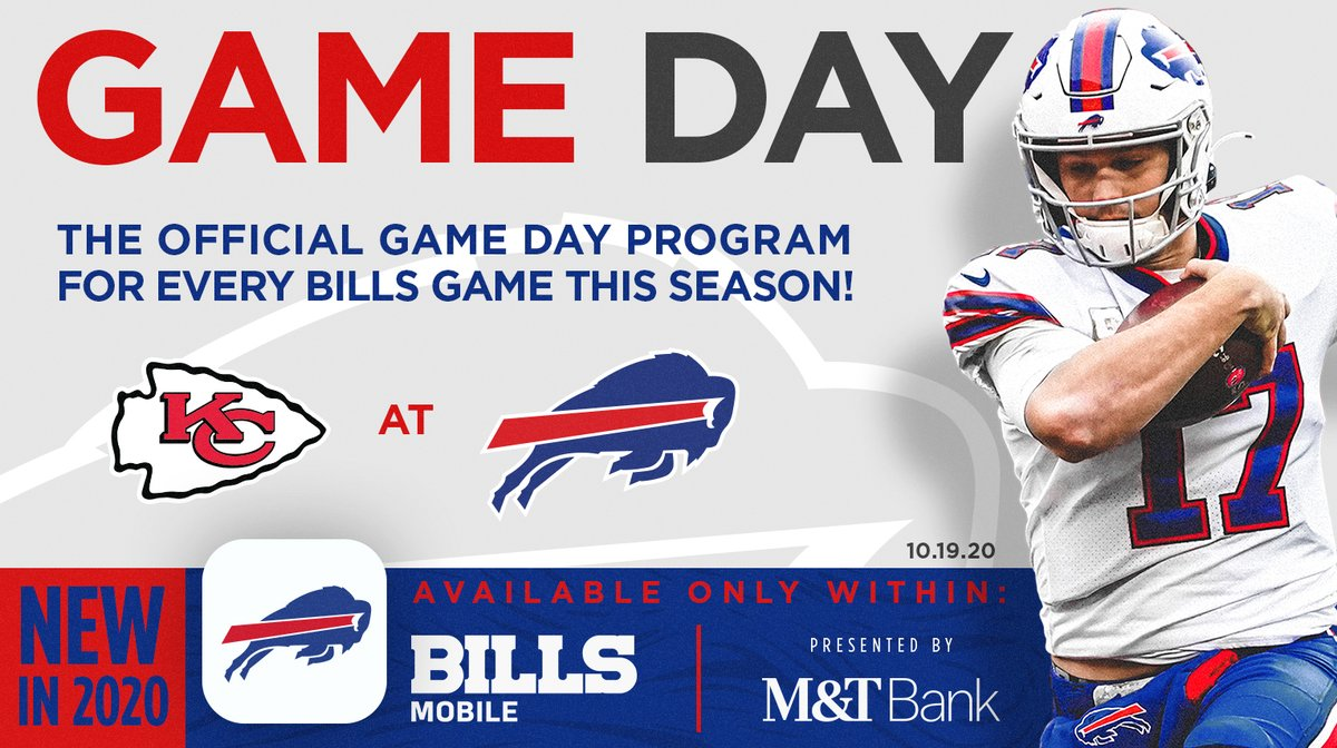 Buffalo Bills On Twitter Everything You Need To Know For Tonight All In One Location Check Out Our Official Kcvsbuf Program Https T Co Vse3ymu0se Https T Co Sxyophqopj