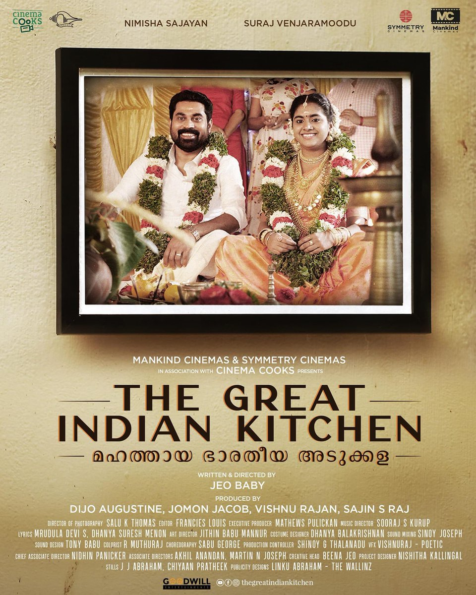 #TheGreatIndianKitchen malayalam movie starring #Suraj & #Nimisha https://t.co/Nd8R6RPri9