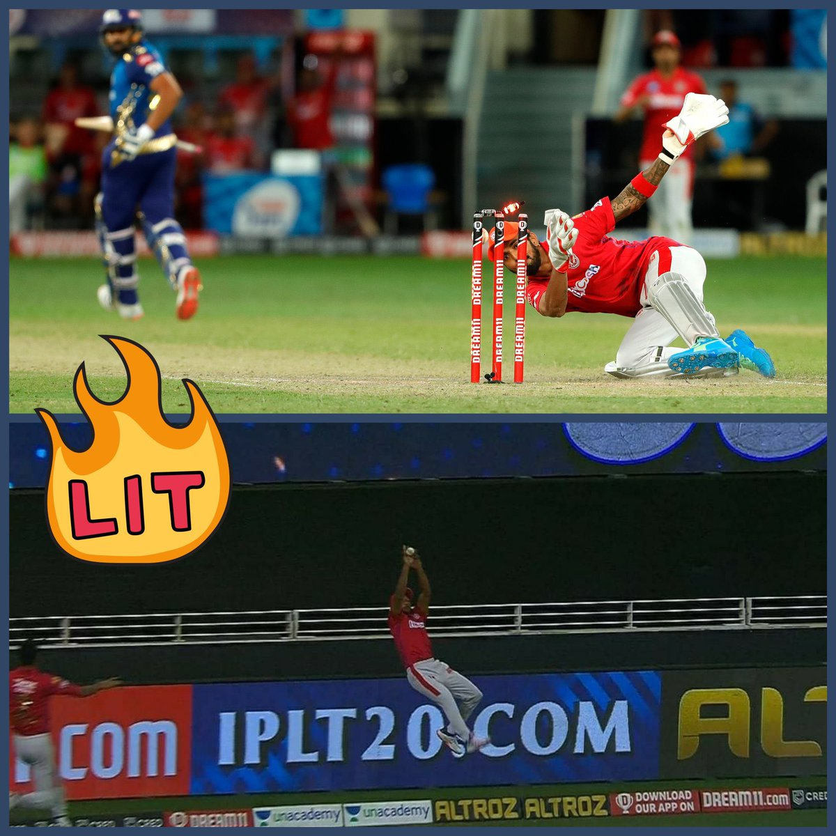 Well done boys, @klrahul11 @mayankcricket !! In a game as tight as yesterday's these two moments of brilliance from you guys stand out #DoddaMathu #IPL2020 #KXIPvMI