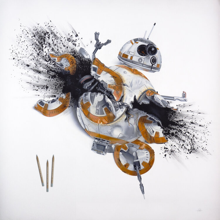 """Amazing realistic pen and pencil drawings from Milan based artist Alessandro Paglia at https://t.co/z2kl4NwRB1 """"BB-8"""", © Alessandro Paglia #art #AlessandroPaglia #PencilDrawings #realism #BB8 #Milan https://t.co/kbOMAA5XmD"""