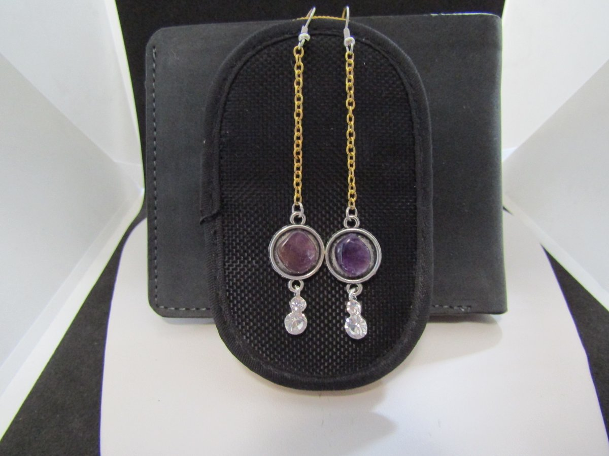 Purple Amethyst Crystal Dangle Earrings with Czs  https://t.co/HkAFl8Hble  #earrings #amethyst #purple #gold #dangle #cz #clear #jw #new #handmade #drop #grailed #jewelry #golden https://t.co/quSY9v9tbM