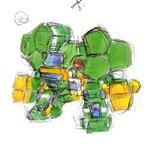 Image for the Tweet beginning: 古い絵 #電脳戦機バーチャロン #バーチャロン #ロボット #メカ