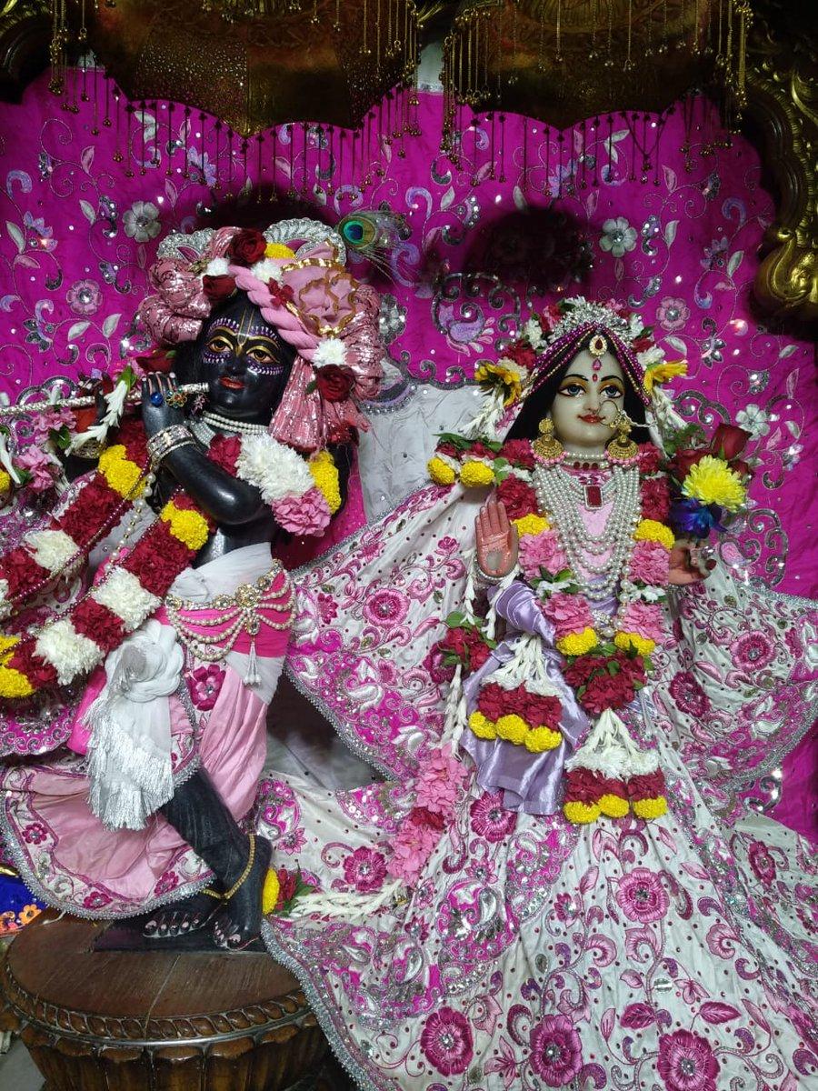Today's Darshan at ISKCON Delhi on 19 October 2020 . . #haribol #lordkrishna #radha #radheradhe #radharani #prabhupada #srilaprabhupada #spiritual #god #jaishreekrishna #india #barsana #darshan #radhe #iskconydid #iskcondelhi #radhakrishnalove #iskcon_world #iskcon #radhika https://t.co/q3jaByNjkw