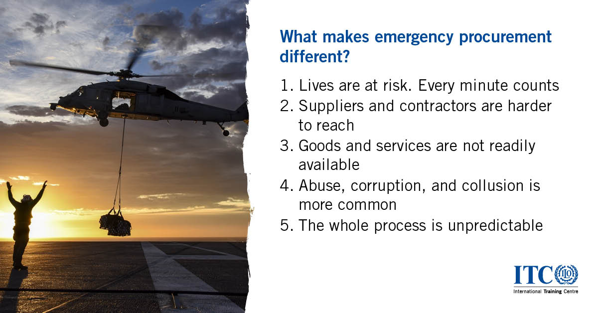 Want to learn how to procure goods, works and services in fragile, conflict-affected and emergency situations? Join the Emergency Procurement course here: https://t.co/j7LM0Jbstn  Deadline: 23 October 2020 https://t.co/NALtwgdse1