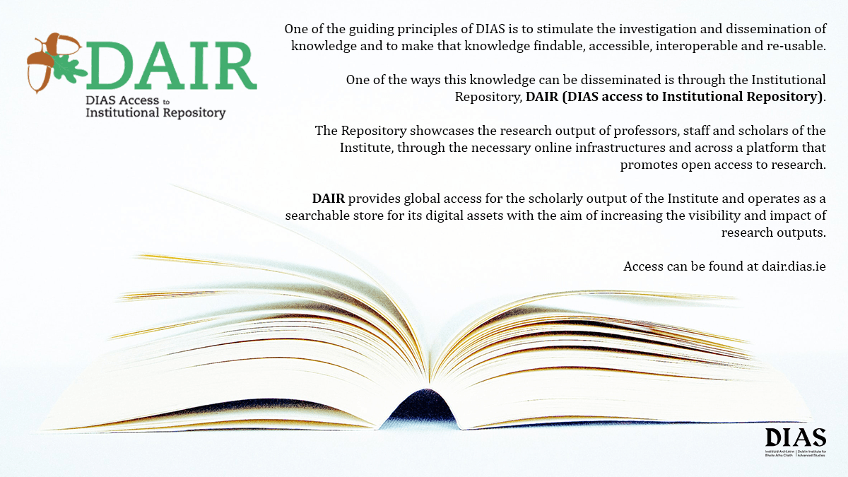 test Twitter Media - DAIR is the Institutional Repository of @DIAS_Dublin and showcases the research output of the Institute #openaccess  #OAWeek2020  Access is available here https://t.co/fMgFfHVU6g https://t.co/arCOIwt2U7