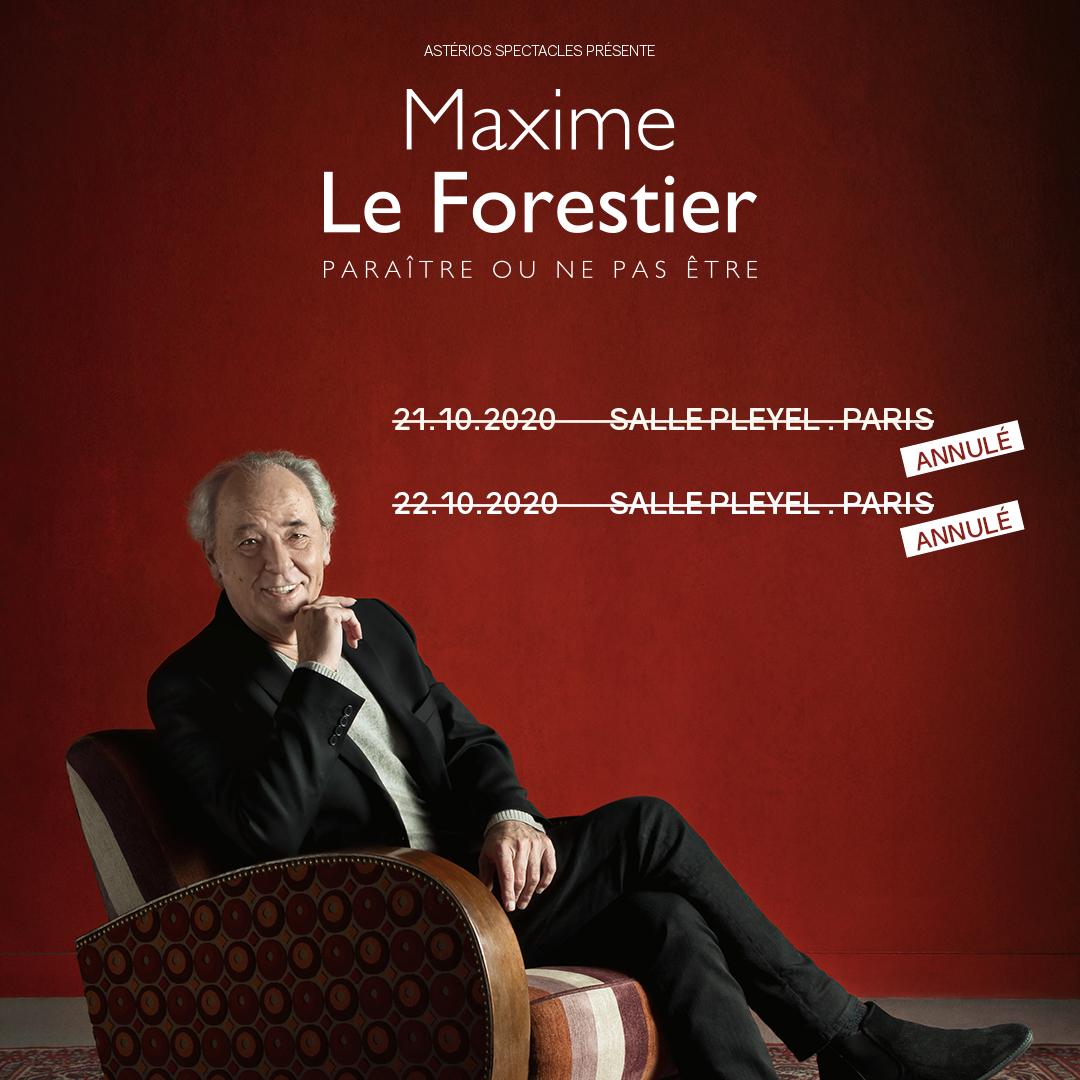 ➖MAXIME LE FORESTIER➖ Compte tenu des nouvelles annonces gouvernementales du jeudi 14 octobre imposant un couvre feu à 21h en Ile-de-France, nous sommes contraints de devoir annuler les concerts de Ma