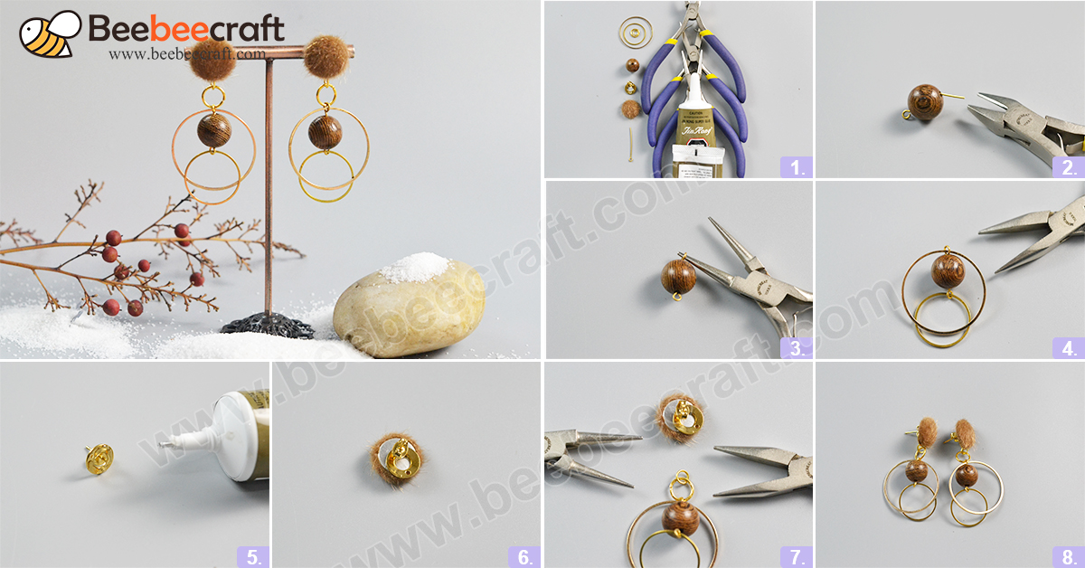 #Beebeecraft idea on making autumn #earrings with #woodbeads and pompom #ball. #DIY #jewelry #jewelrymaking  https://t.co/fWko3voGwh https://t.co/El8jMAGvyM