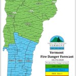 Image for the Tweet beginning: Forecasted fire danger for Monday