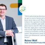 Image for the Tweet beginning: Rainer Wolf, Head of Sheetfed