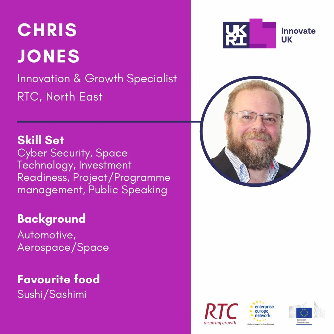 #Innovation and Growth Specialist, Chris Jones is our guy for all things #CyberSecurity and #SpaceTech. Could he help you to move your business forward? https://t.co/vwjttUQDxB
