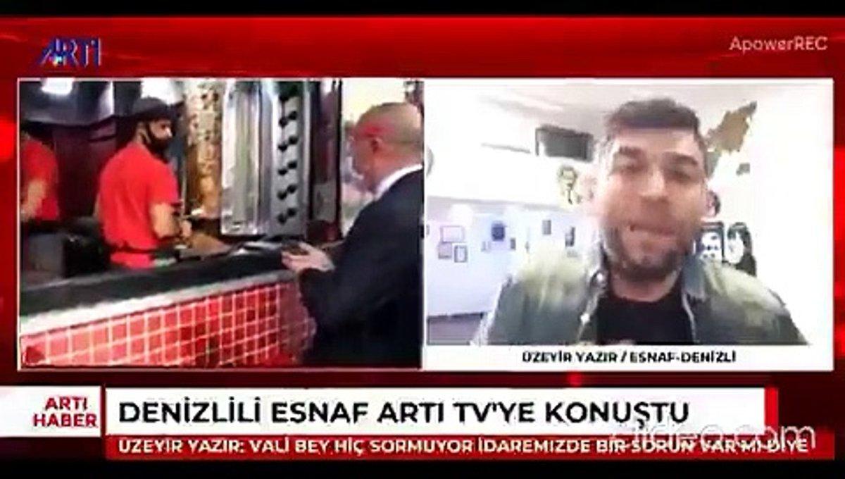 Denizli Valisi Ali Fuat Atik'in maske sorusunu 'Gebermek istiyorum!' diye yanıtlayan esnaf: Maske benim son derdim  https://t.co/mmMcK8ewP1 https://t.co/qnMSJEkIoq