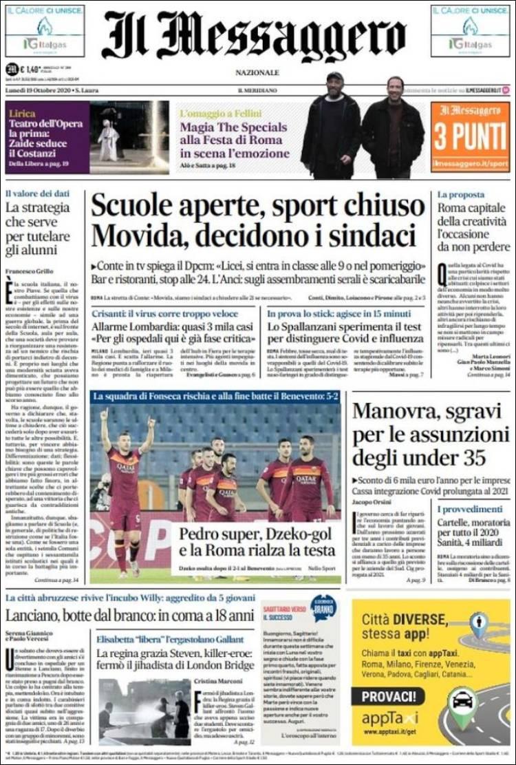 IL MESSAGGERO  https://t.co/2aBVSajw6B #r2p #IlMessaggero #Italia #Italie #Italy #Coronavirus #UE #USA #Covid #SergioMattarella #GiuseppeConte #Alitalia #Macron #Obama #Biden #Trump #Napoli #Football #Mib30 #Ferrari #Macron #F1 #Leclerc #Vettel #Binotto #Beirut #Addison #TikTok https://t.co/COBKC0S2to