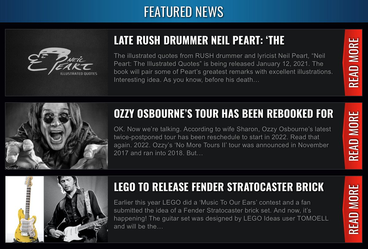 Todd Hancock على تويتر Read Our Website Headlines Https T Co Eprsbifvtf Lego Is Releasing A Fender Brick Set There S Something Up Ozzyosbourne Sleeve And An Illustrated Rush Neil Peart Quotes Book Coming Soon Https T Co Xuchzki4fx