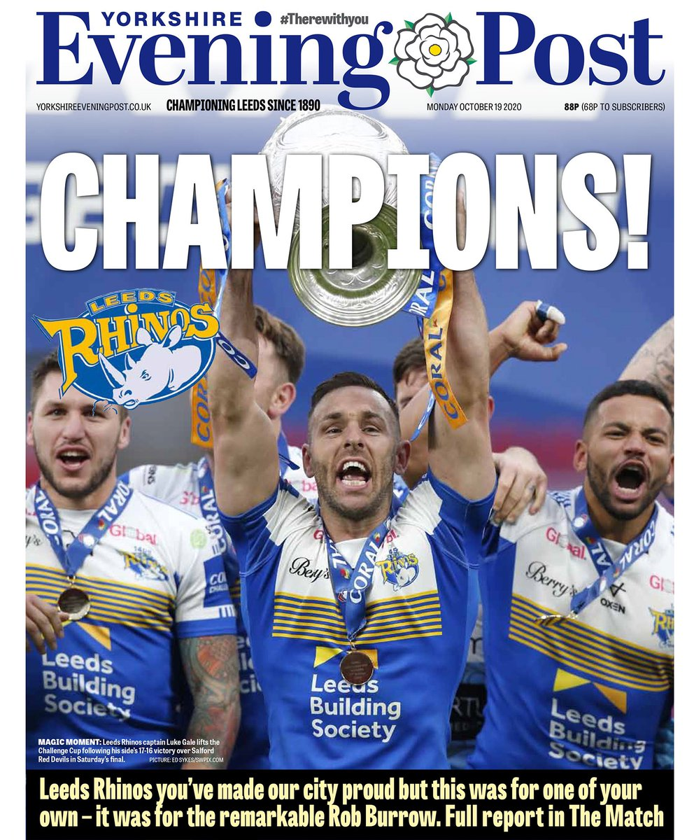 Champions!! @leedsrhinos have done our city proud. But this was a Challenge Cup final like no other. For the team this season was about doing it for one of their own - the remarkable @Rob7Burrow 🙌🏻🙌🏻 yorkshireeveningpost.co.uk/news/opinion/l…
