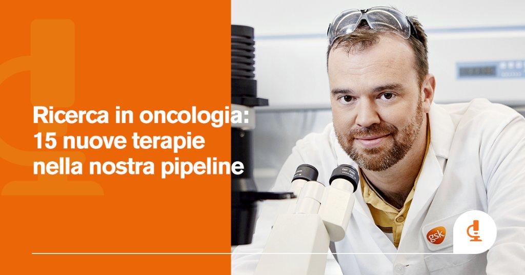 Investiamo in #innovazione e #ricerca per le cure di domani. Con 15 candidati nella pipeline oncologica GSK, abbiamo allo studio nuove opzioni di trattamento per le persone con bisogni terapeutici non soddisfatti.  https://t.co/fGtjUPu5c3 https://t.co/8tUa6VsMgJ