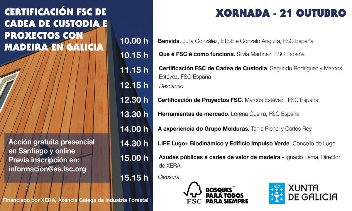 Proyectos con madera en Galicia. Nueva jornada de divulgación de @FSC_Spain te apuntas?  https://t.co/RDUga4jtvT