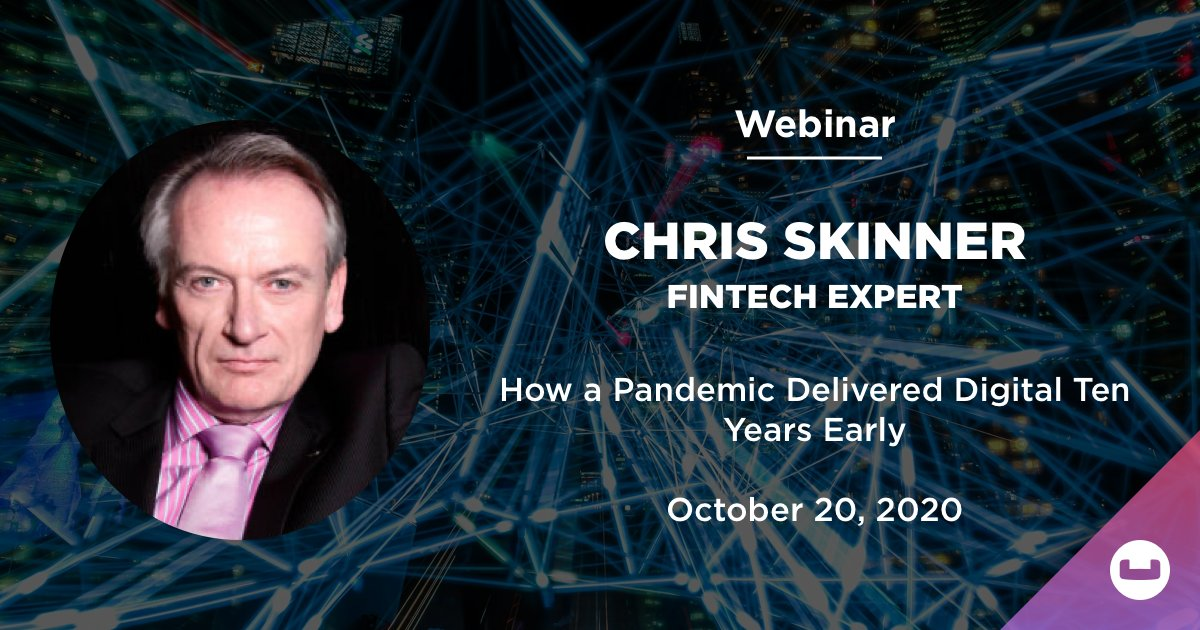 How a #Pandemic Delivered #Digital Ten Years Early. Join #Couchbase webinar with #fintech expert Chris Skinner Oct. 20 at 10 am BST. Learn why #banks continue to fall short in digital transformations, key fixes and how technology to speed up the process. https://t.co/NXHpDAVCq9 https://t.co/odMv2EGCV7