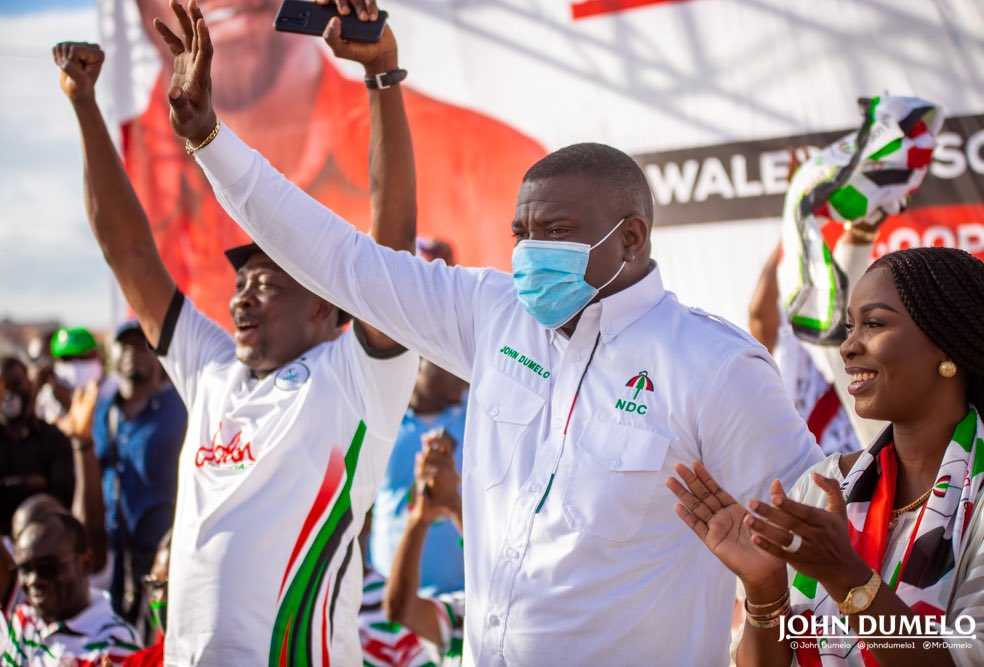 John Dumelo pulls huge crowd during campaign launch at Ayawaso West