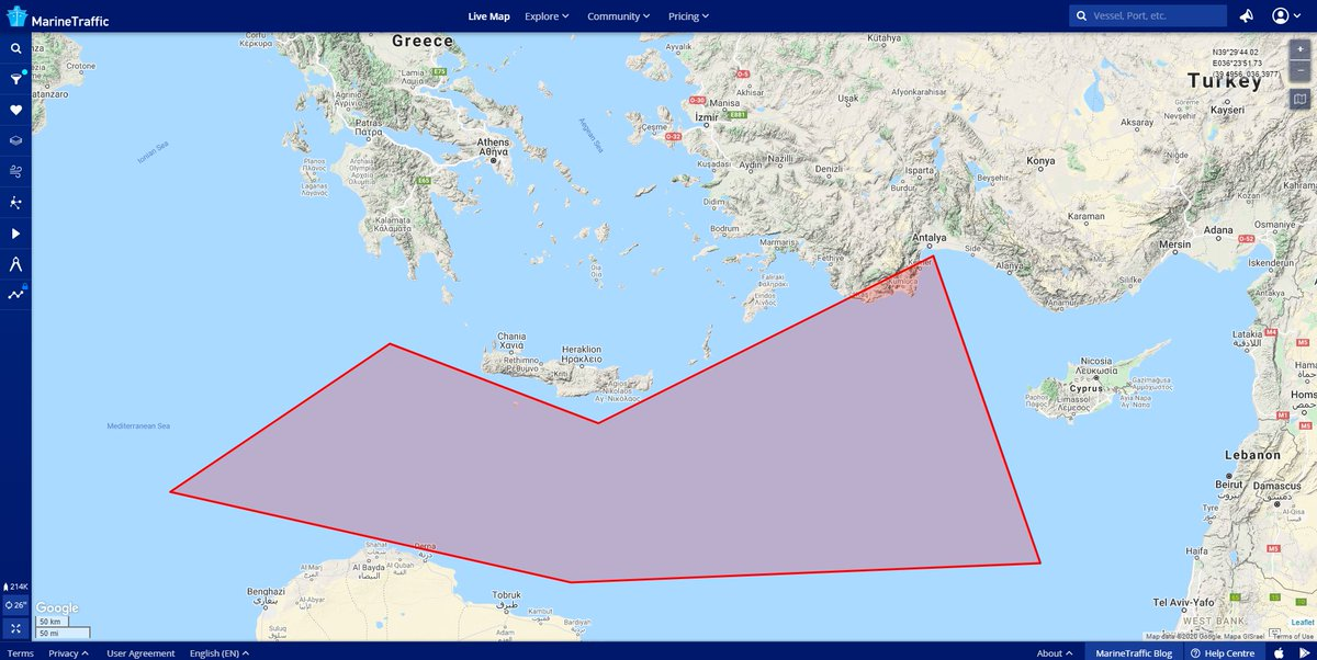 The world is your canvas Did you know that you could be notified each time the #Oruc_Reis enters a specific location you have defined on our Live Map?