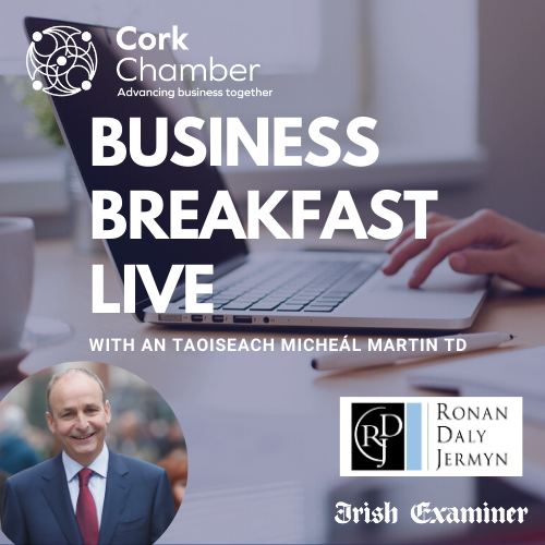 Thurs 22Oct, 8am Join us with An Taoiseach @MichealMartinTD at this exclusive @CorkChamber member event as head of our Gov't, Chair of Fianna Fáil and TD for Cork South Central, An Taoiseach will share his vision for business, for Cork and for Ireland. https://t.co/7bbCYwY5Yo https://t.co/FTiY4iGKRl