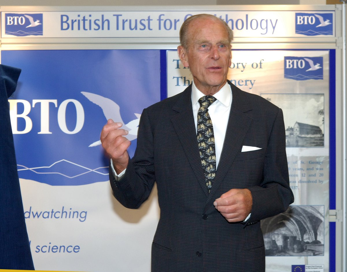 The British Trust for Ornithology @_BTO aims to empower communities to protect local bird species and their natural habitats.  The Duke of Edinburgh has been Patron of the BTO for over thirty years, and is a lifelong ornithology enthusiast. https://t.co/rGwOrP2CwY