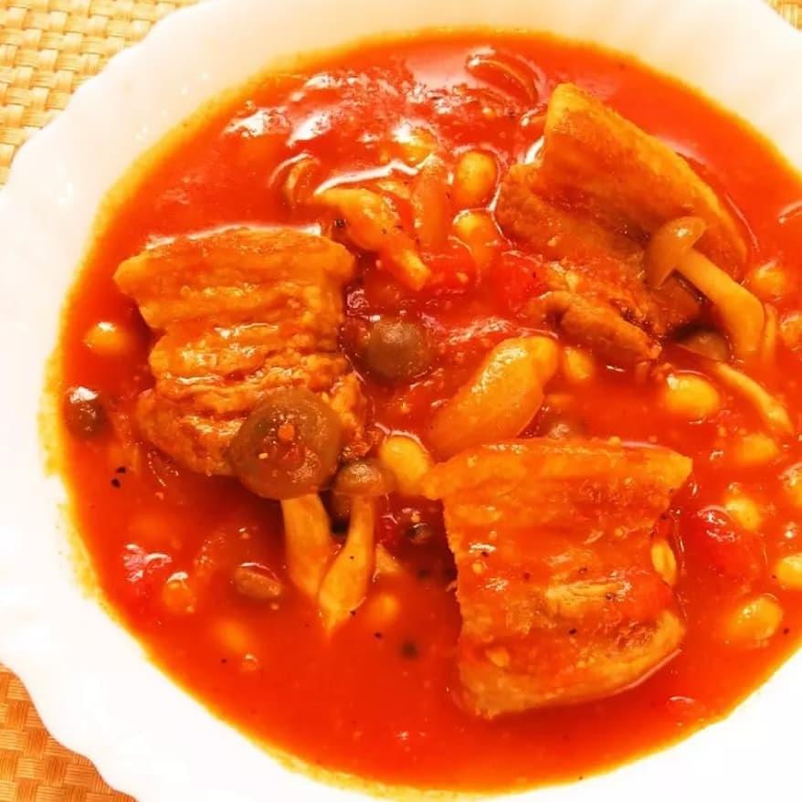 クックパッドで公開している私のレシピをご紹介♪☺簡単♪豚バラ肉と大豆のトマトシチュー☺ by hirokoh 寒い日に食べたいあったかシチューです♨️#料理好きな人と繋がりたい#Twitter家庭料理部 #お腹ペコリン部#おうちごはん #クックパッド #cookpad  #YouTube