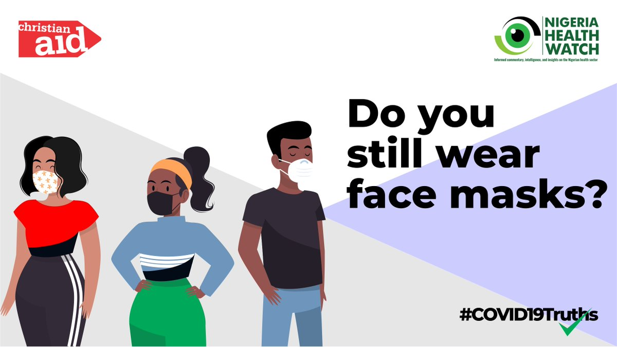 Do you still wear mask? A mask is a tangible way we can show others we want to stop the spread of #COVID19. The #COVID19 pandemic is not over. You still have to wear a mask. #COVID19Truths