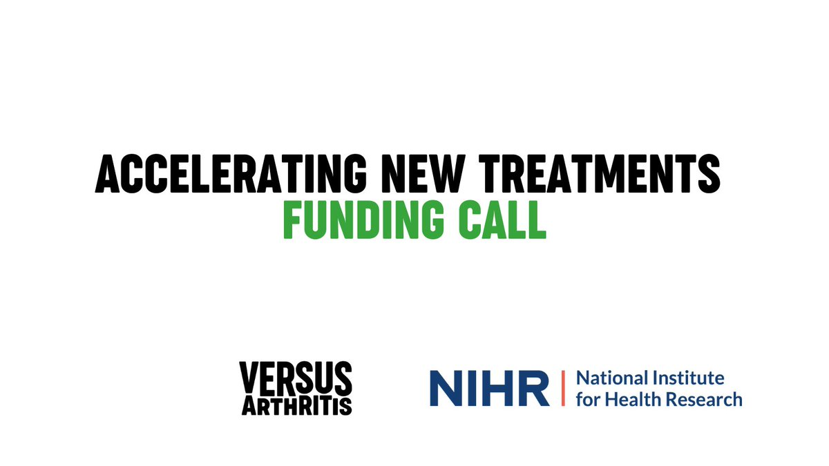 We are pleased to announce that the Accelerating New Treatments funding call is now open for applications. This is the first funding call around the Musculoskeletal Translational Research Collaboration with @NIHRresearch. Find out more:👉 https://t.co/k3TDr1PbUy https://t.co/JPNQTAKOB6