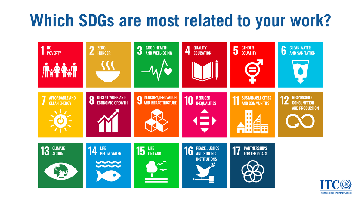 Which #SDGs are most related to your work?  #mondaythoughts #Agenda2030 https://t.co/x5leGXypTw