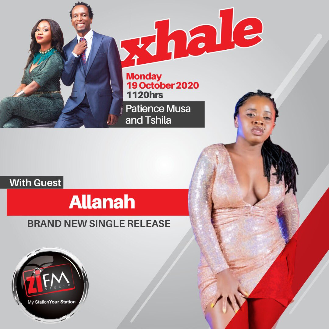 Catch Allanah LIVE in studio for her brand new single release only on #Xhale. Tune in from 11:20Hrs Live on Facebook! https://t.co/X9ZlSuOtJa