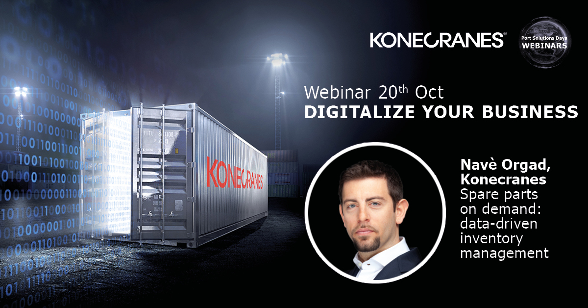 "What happens when inventory management is data-driven and you can get your spares on demand? Many good things! Register to our ""Digitalize your business"" #webinar and learn how it can be done in your container terminal. ➡️ https://t.co/vVjKk5UVhB #portsolutionsdays https://t.co/hcjvWt2fRD"