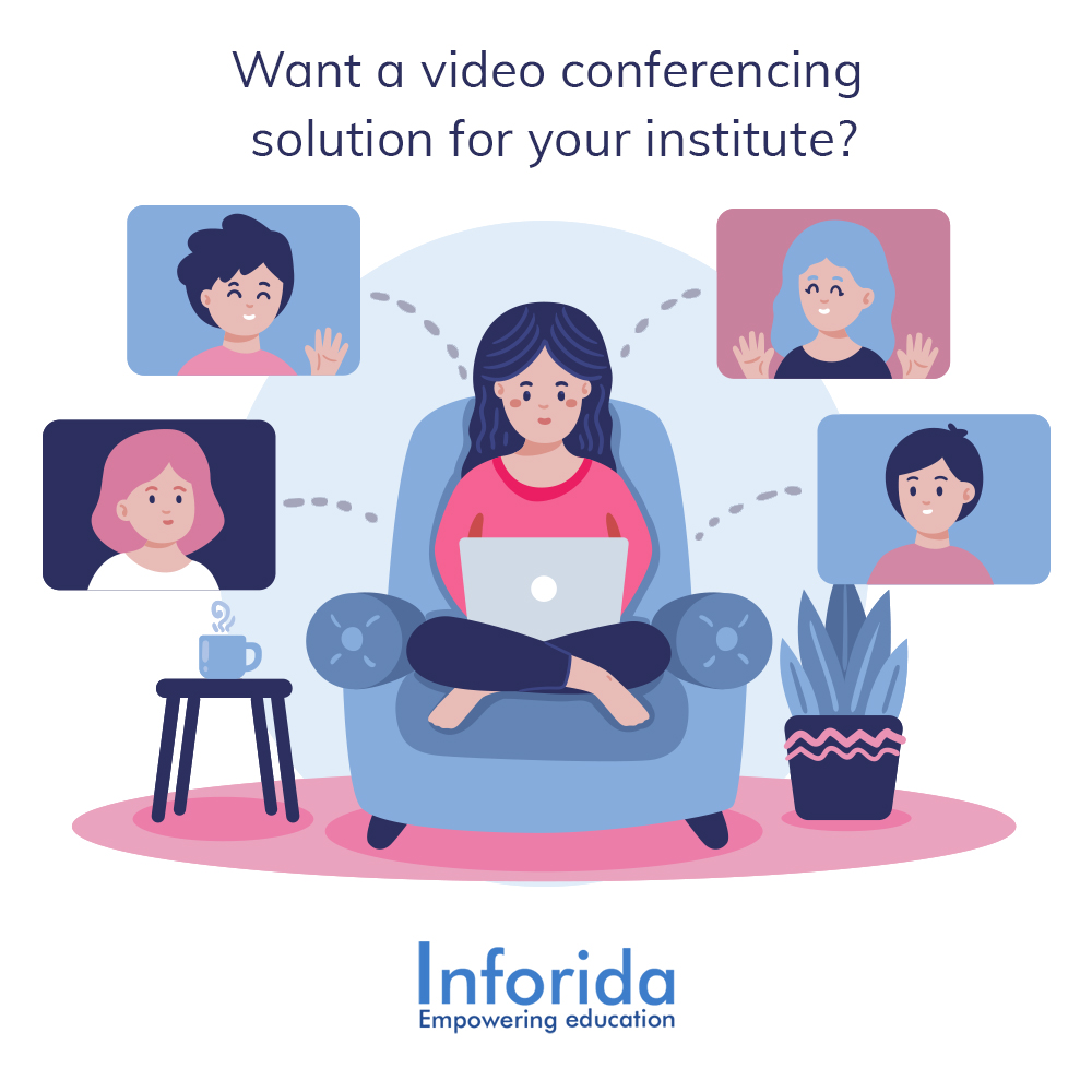 Looking for a solution for online classes  With #inforida, you can have hassle-free video conferencing at an optimal cost. Dm now to know more!  #onlineclasses #videocall #videoconferencing #videoconferencingsolutions #solution #solutionproviders #edtech #edtechteam #edtechindia https://t.co/hXBU3KiPat