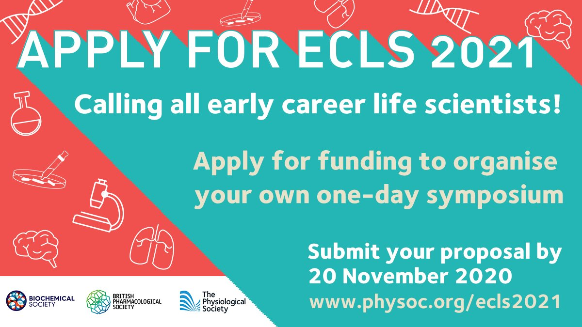 If you're an Early Career life scientist, why not gain some experience of organizing your own symposium? We are calling for event proposals we can help support. This initiative is a great opportunity to strengthen your professional network. Find out more: https://t.co/fsjO9piAsR https://t.co/w4zLmrfqv1