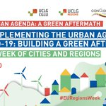 Image for the Tweet beginning: #Regions4Action 🟢#EURegionsWeek  #UrbanOctober  📢Don't