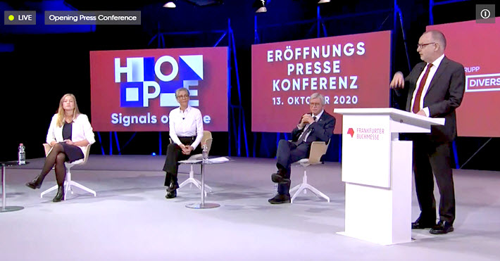 From the week: Frankfurter Buchmesse's Opening News Conference: 4,400 Digital Exhibitors | @Porter_Anderson bit.ly/3lIxl0M #Frankfurt @Book_Fair #FBM20 #FBMSpecialEdition | More than 70 hours of conference programming.