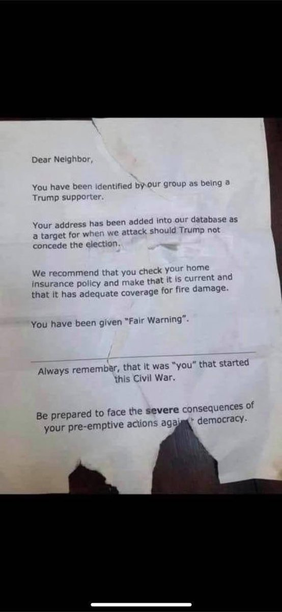 These fliers are being left in Kansas City neighborhoods. This on top of our former KS National Committeeman getting run over on his yard due to his Trump sign. Please pray that America will reject this violence and hate. https://t.co/vQlb1ZqiVg