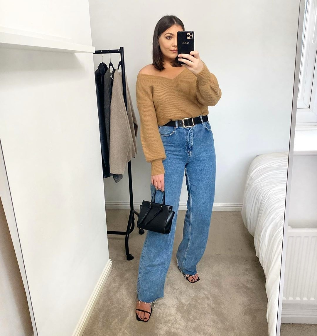 Image for Saturday stylin' 🍂  @gabriellarose_h styles the camel penny jumper 🛒  Shop now 👉🏽 https://t.co/5y08kiUfWH https://t.co/N0siANyoRo