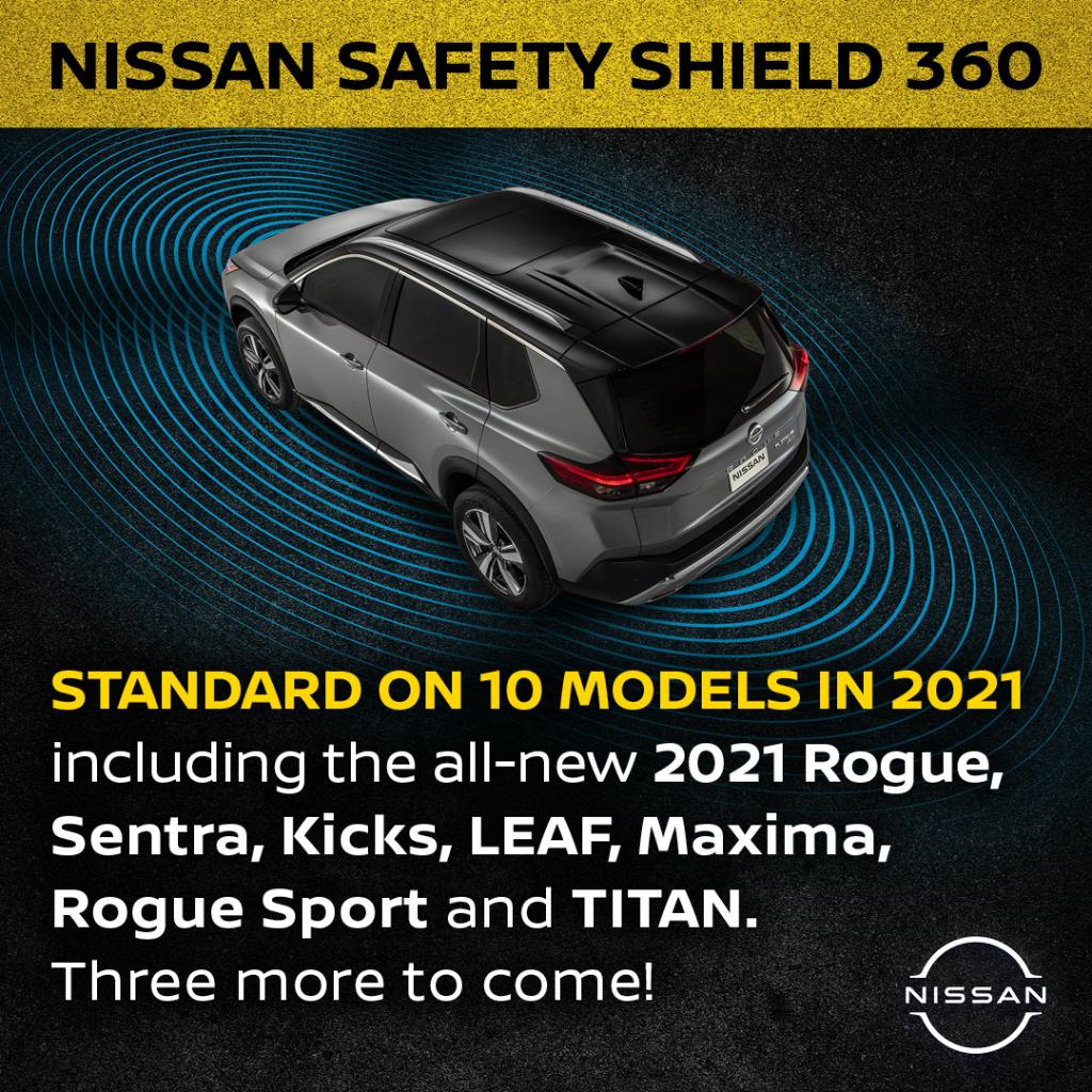 Nissan has your back, front and sides with standard Safety Shield 360 on more vehicles, including the all-new #NissanRogue2021 and all-new #NissanSentra.   #NationalTeenDrivingSafetyWeek   https://t.co/xvE0IVgDsM https://t.co/S3IZ4am8hz