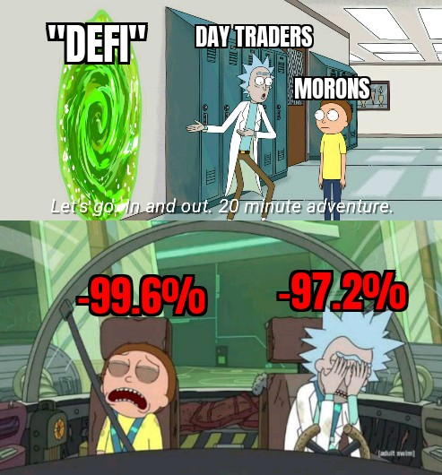 rick and morty daytraders taking advantage of noobs defi