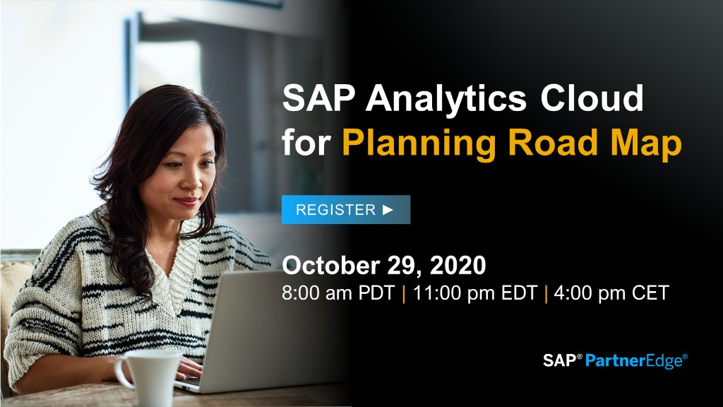 Put AI-powered analytics in the hands of every customer. #SAPPartners are invited to join us on October 29 to hear our strategy on SAP Analytics Cloud, recent innovations and future enhancements, and a 15-minute Q&A at the end.   Register today ▶️ https://t.co/tnH6vfbT6h https://t.co/HzbxR272mT