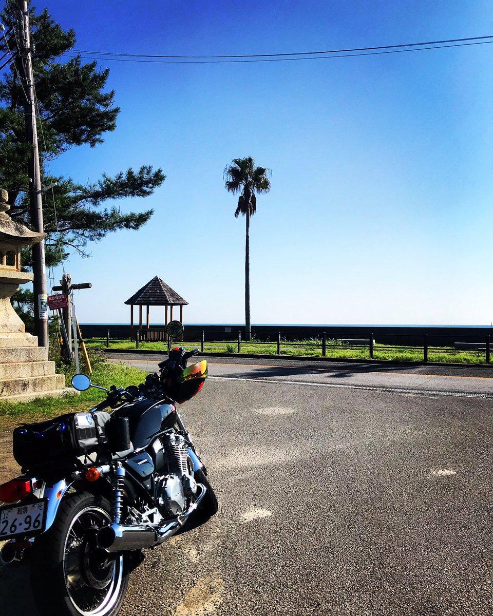 #バイク #ホンダ #HONDA #CB1100EX #単車 #オートバイ #ライダー #ツーリング #和歌山 #煙樹ヶ浜 #水平線 #景色 #絶景 #旅 #青空  #バイク好きな人と繋がりたい #SIMPSON #alittlehonda https://t.co/ecCB1Rqkf5